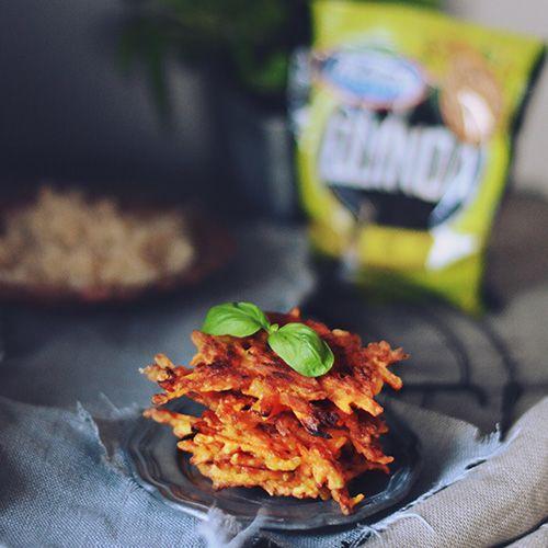 Placuszki z batatów z komosą ryżową