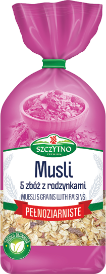 Wholegrain musli with raisins 400 g