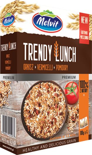 Trendy Lunch orkisz, vermicelli, pomidory