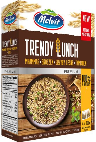Trendy Lunch mhammas, grzyby leśne, groszek, tymianek