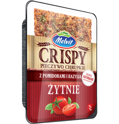 Crispy żytni z pomidorami i bazylią Multivac