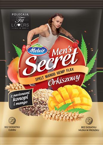 Mens Secret Orkiszowy z nasionami konopi i mango