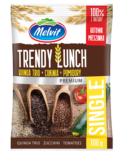 Trendy Lunch Single z quinoa trio, cukinią i pomidorami
