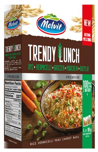 Trendy Lunch ryż parboiled, vermicelli, groszek, marchew, bazylia