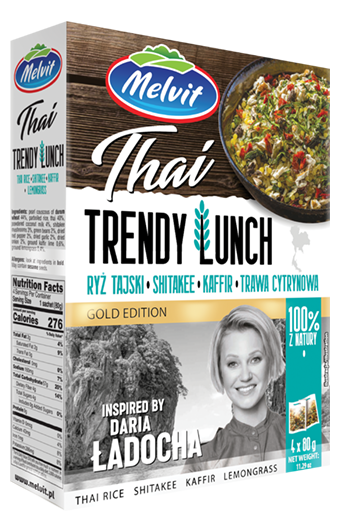 Trendy Lunch Thai: Ryż tajski, shitakee, kaffir, trawa cytrynowa
